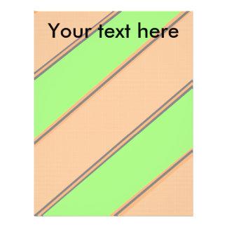 Modern green orange diagonal stripes full color flyer
