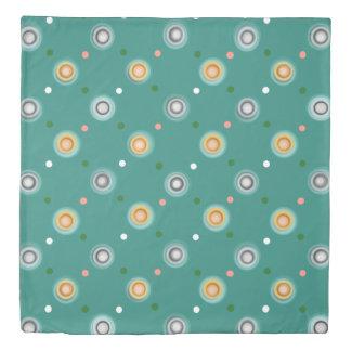 Modern Green Polka Dot Duvet Cover