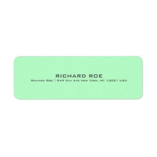 Modern Green Professional Return Address Label