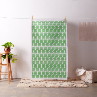 Modern Green Rectangular Geometric Pattern Fabric