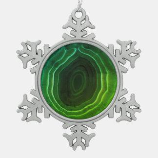 Modern green snowflake Christmas decoration