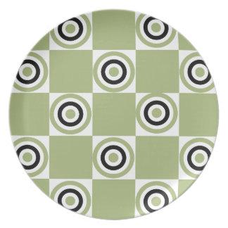 Modern Green Targets Plates