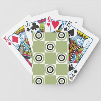 Modern Green Targets Poker Deck