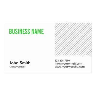 Modern Green Title Optometrist Business Card