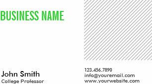 College professor business cards profile cards zazzle ca modern green title professor business card colourmoves