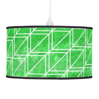 Modern Green Watercolor Geometric Pattern Ceiling Lamp
