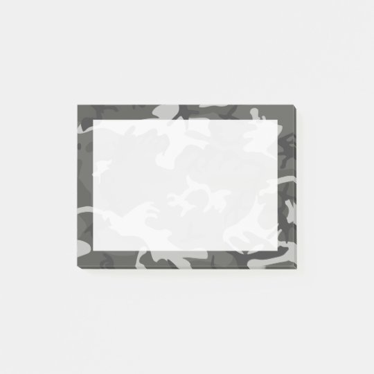 Modern Grey Abstract Camo Camouflage Post-it® Notes