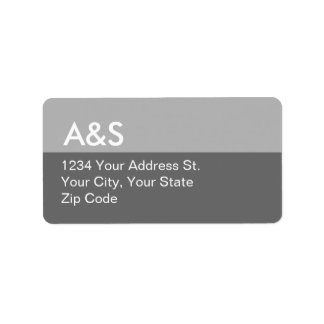 Modern Grey Address Labels