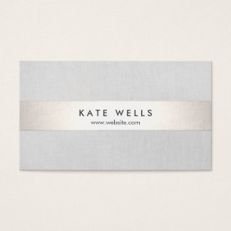 Modern Grey and Faux Silver Stripe Business Card
