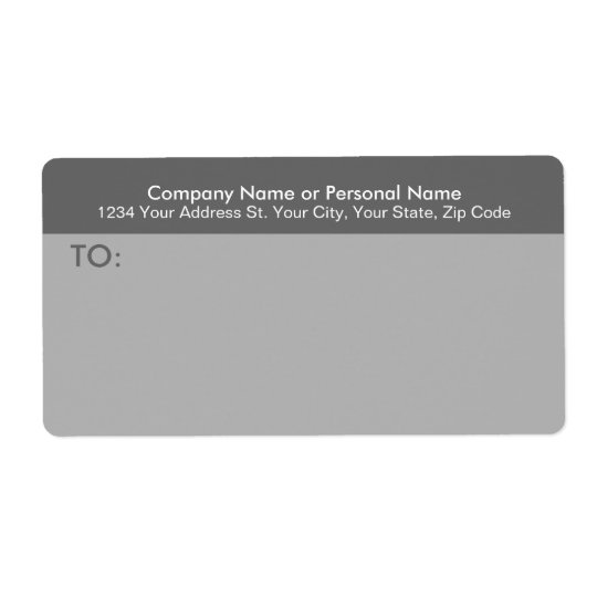 Modern Grey Business Mailing Label Shipping Label