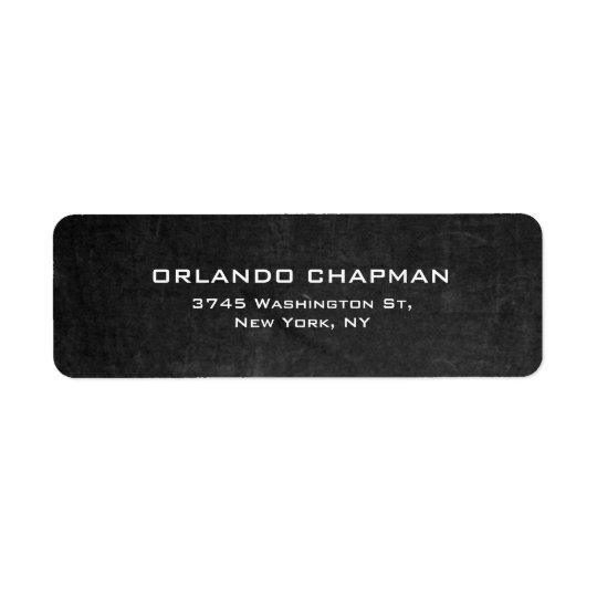 Modern Grey Chalkboard Simple Plain Elegant