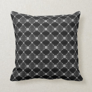 Modern Grey Diamond And Squares Pattern Throw Pillows