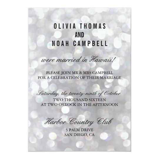 Modern Grey Elegant Post Wedding Reception Card