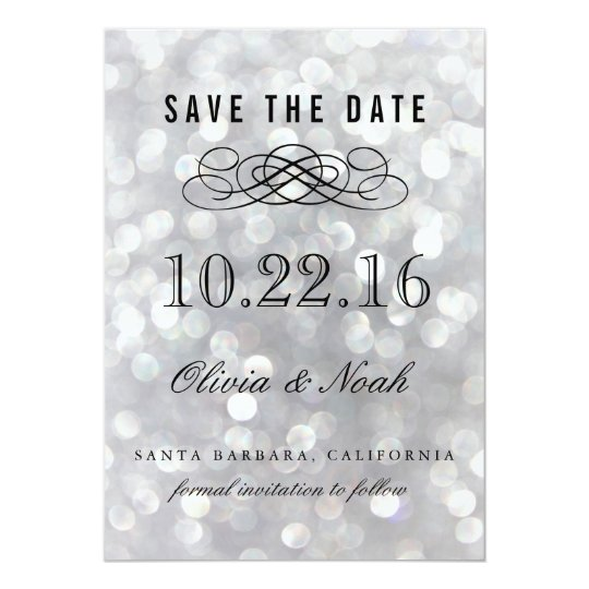 Modern Grey Elegant Save the Date Invitation Card
