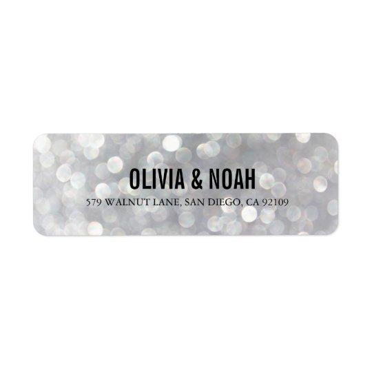Modern Grey Elegant Wedding Return Address Labels