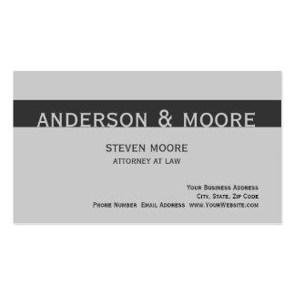 Modern Grey Law Firm Attorney Business Card