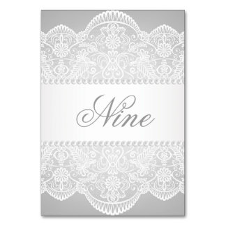 modern Grey pearl white lace vintage wedding Card