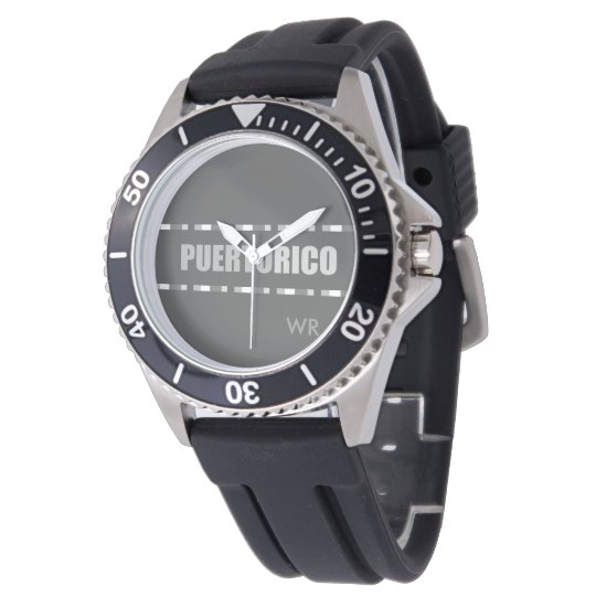 Modern: Grey: Puerto Rico Wristwatches