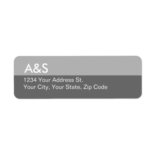 Modern Grey Return Address Labels