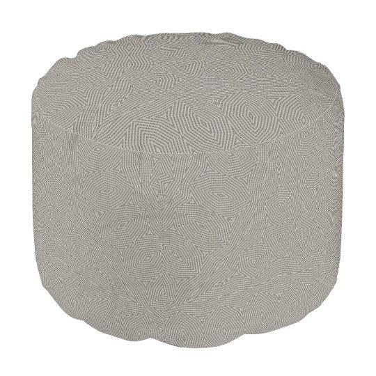 Modern grey style geometric pattern pouf