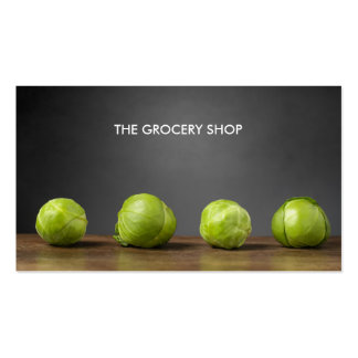 Modern Grocery Nutrition Brussels Sprouts Business Card