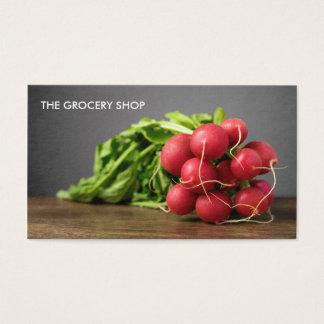 Modern Grocery Radish Business Card Template