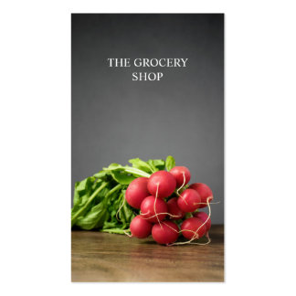 Modern Grocery Radish Pack Of Standard Business Cards