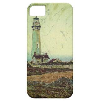 modern grunge oil painting vintage light house iPhone 5 covers
