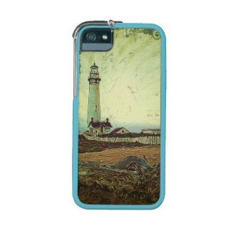modern grunge oil painting vintage light house iPhone 5/5S cover
