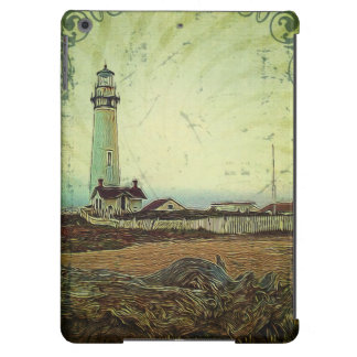 modern grunge oil painting vintage light house iPad air cover