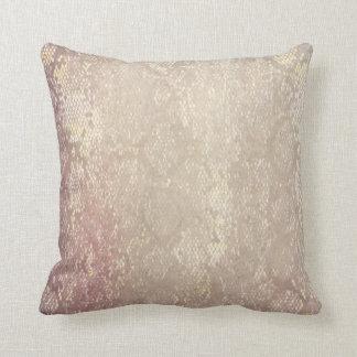 Modern Grunge Snake Skin Animal Pattern Cushion
