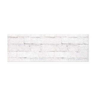 Modern Grunge White Brick Wall. Canvas Print