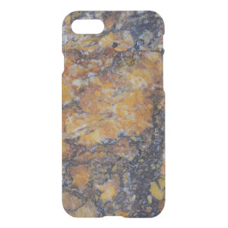 Modern Grungy Brown Faux Marble Print iPhone 8/7 Case