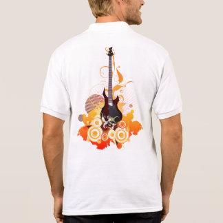 Modern Guitar White Polo Shirt