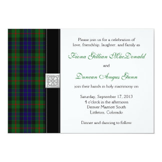 Modern Gunn Tartan Wedding Invitation