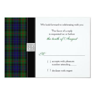 Modern Gunn Tartan Wedding RSVP Reply Card Personalized Invites