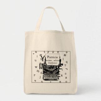 Modern Hand Drawn Vintage Typewriter Tote Bag