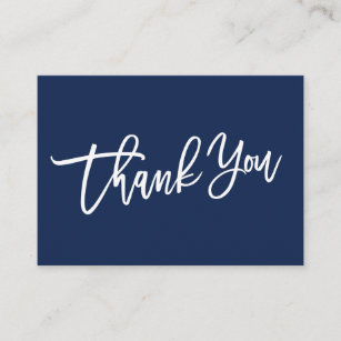 MODERN HAND LETTERED Thank you for your purchase Enclosure Card