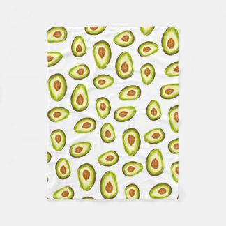 Modern hand painted avocados watercolor pattern fleece blanket