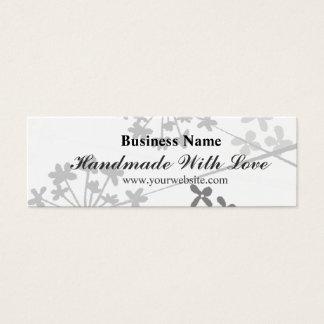 Modern Handmade With Love Minimal Floral Florid Mini Business Card