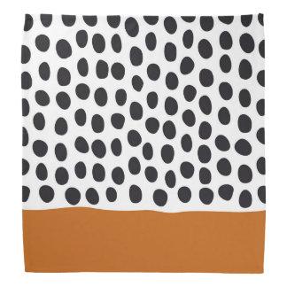 Modern Handpainted Polka Dots with Autumn Maple Bandana