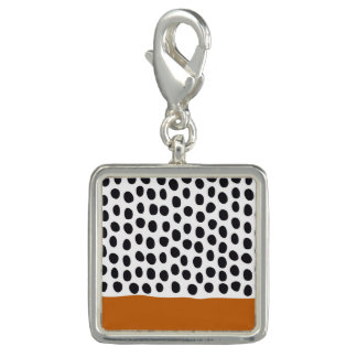 Modern Handpainted Polka Dots with Autumn Maple Charm