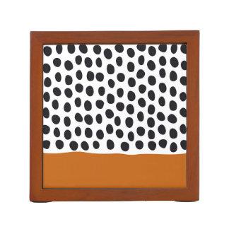 Modern Handpainted Polka Dots with Autumn Maple Desk Organizer