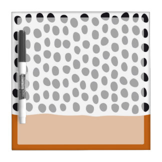 Modern Handpainted Polka Dots with Autumn Maple Dry Erase Board