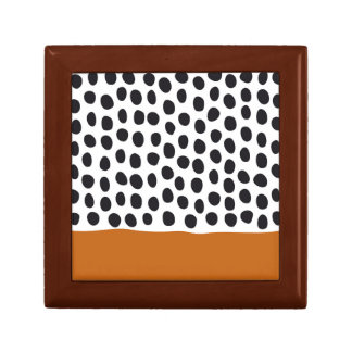 Modern Handpainted Polka Dots with Autumn Maple Gift Box