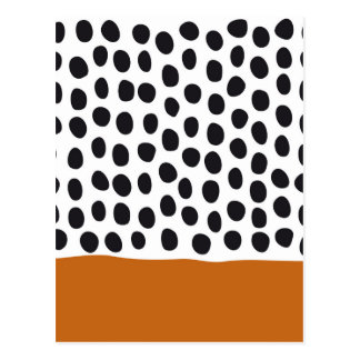 Modern Handpainted Polka Dots with Autumn Maple Postcard