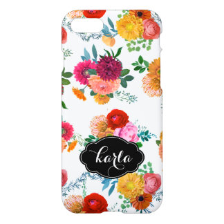 Modern Handprinted Spring Flowers Illustration iPhone 7 Case