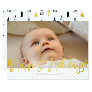 Modern Happiest Holidays Photo Card