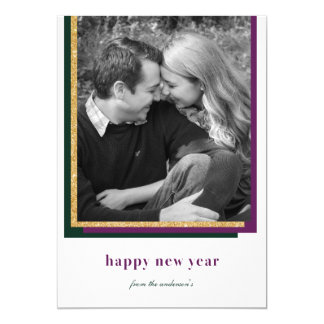 Modern Happy New Year Card