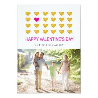 "Modern Happy Velentine's Day Photocard 5"" X 7"" Invitation Card"